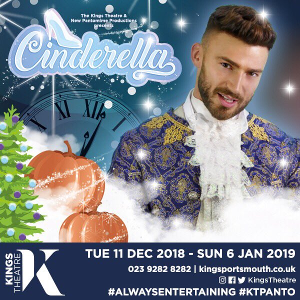 Who is coming to see me play Prince Charming at @kingstheatre in Portsmouth this December? Tickets selling fast #KTPanto #AlwaysEntertaining Book Tickets here bit.ly/2NzybMM