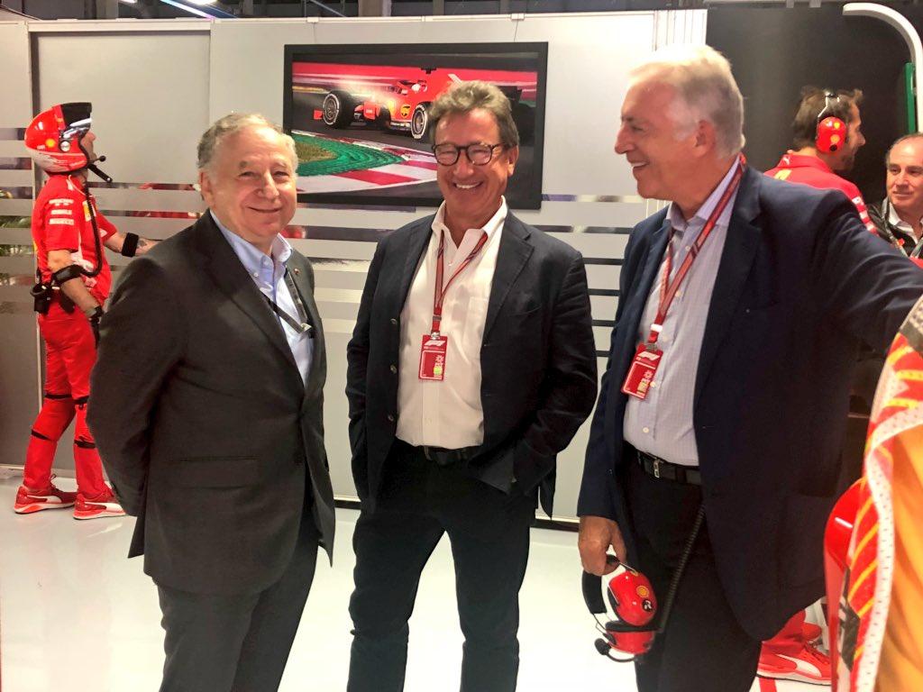 Scuderia Ferrari On Twitter Jean Todt Louis Camilleri And Piero Ferrari Italiangp Quali