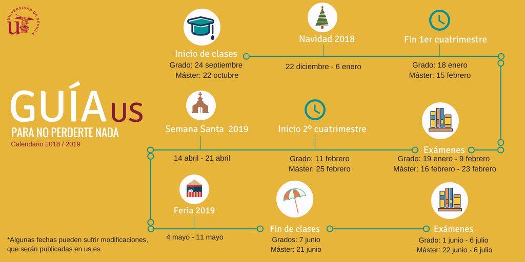 Calendario Academico Us.Universidad Sevilla على تويتر Se Acercan El Final De Las