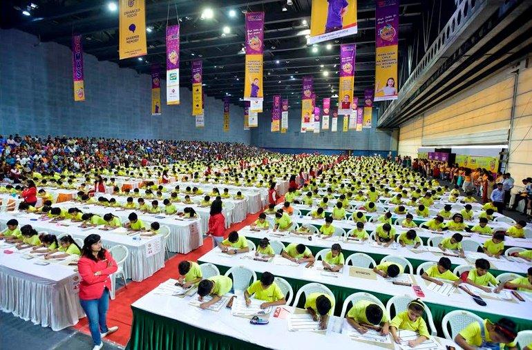 ભારતના 4 થી 12 વર્ષની વયના 2500 બાળકો 2 સપ્ટેમ્બરે સૌથી મોટા માનવ અબાકસ દ્વારા ગીનીસ વિશ્વ વિક્રમ માટે પ્રયાસ કરશે