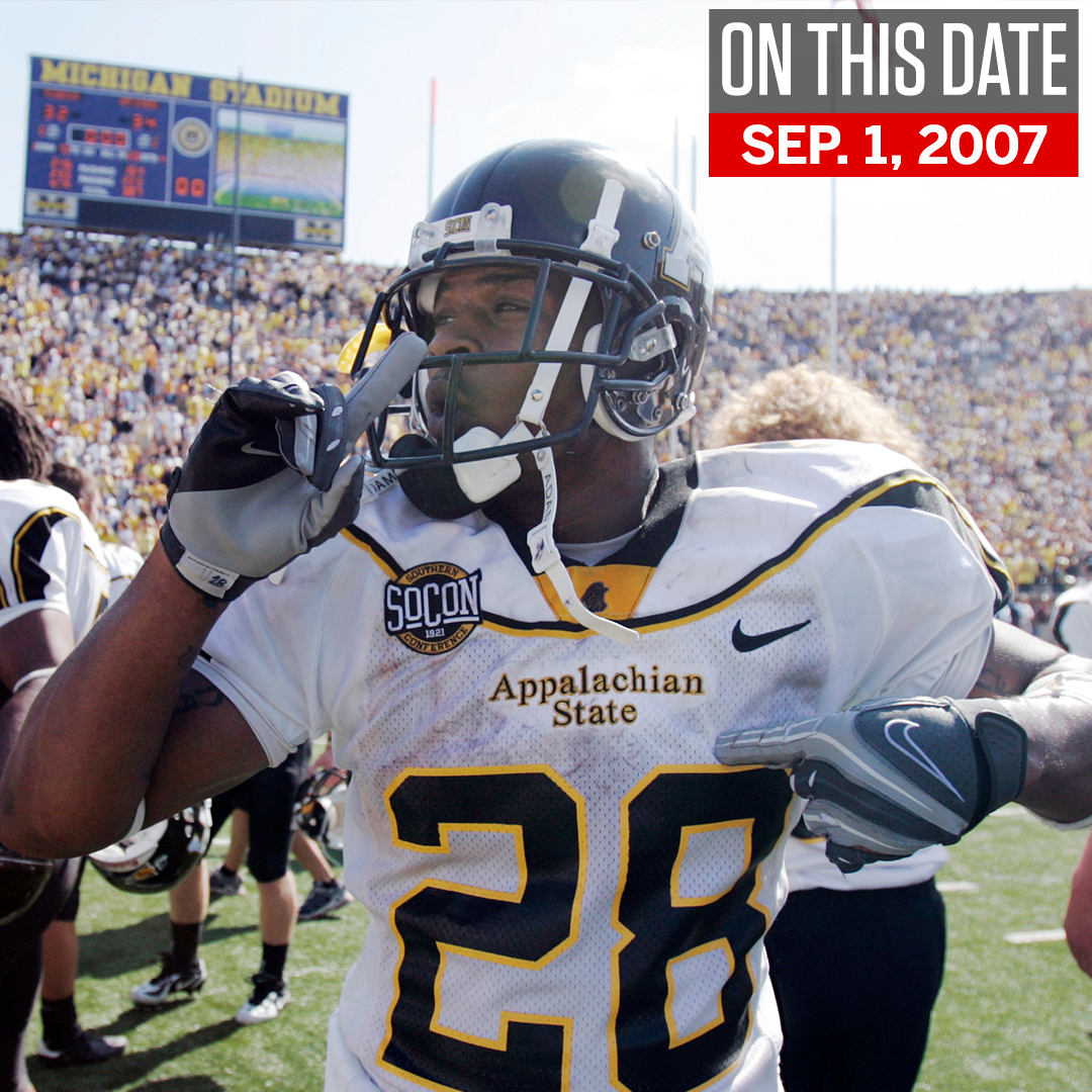 On this date in 2007, Appalachian State beat Michigan in what might be the greatest college football upset of all time.