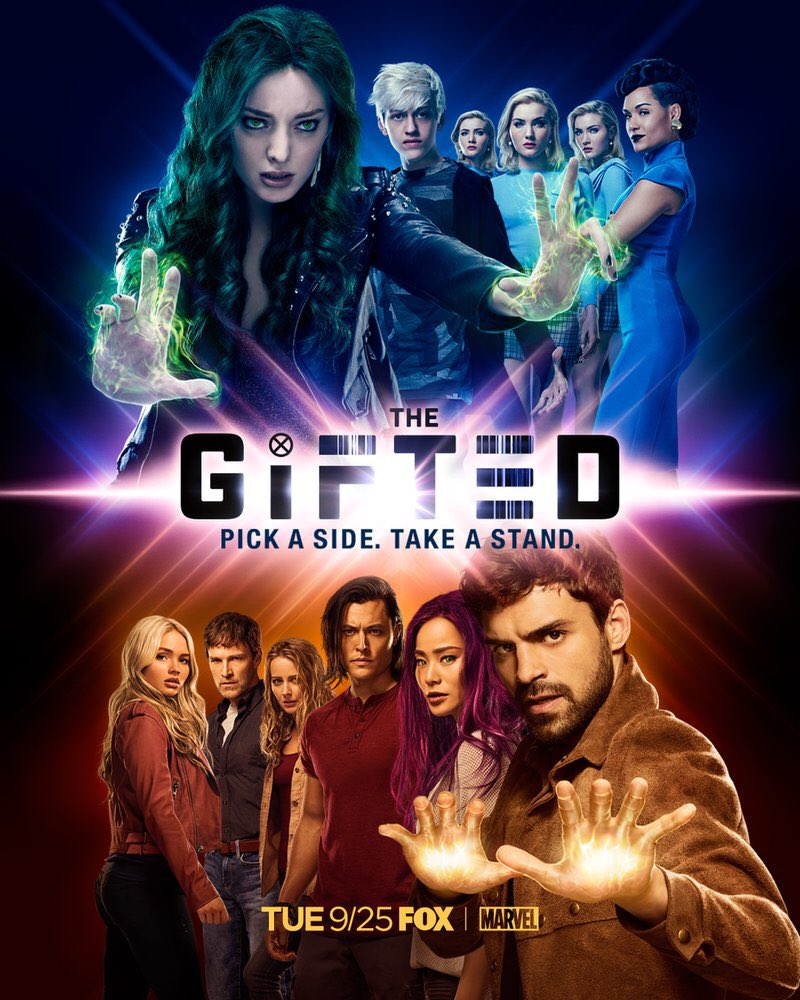Get ready for Season 2 of @TheGiftedonFOX starring @seanjteale premiering on the 25th September on @FOXTV - the dawn of the mutant age is coming! #thegiftedseason2 #dawnofthemutantage #fox #pickaside