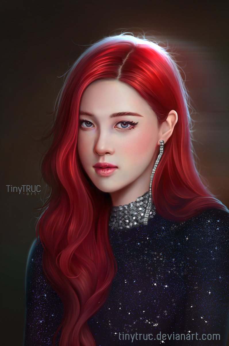 Tiny Truc Art On Twitter Fan Art Rose Black Pink By Tiny Truc My