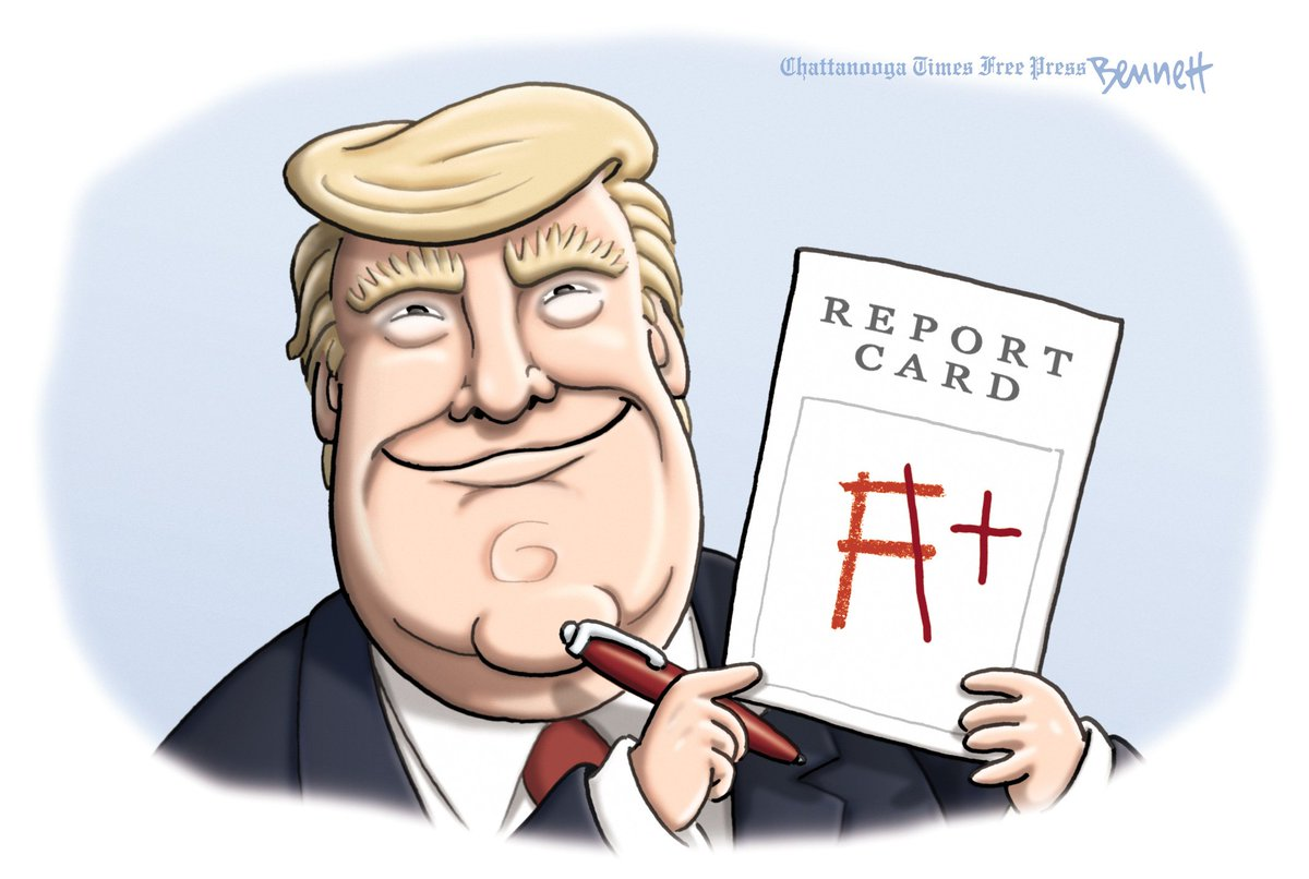 Image result for trump report card cartoon
