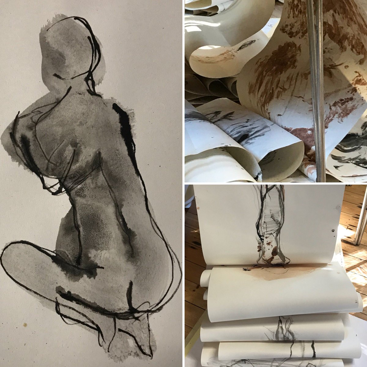 ...summer holidays over, time to re-absorb myself into drawing with touch, music and movement #findthekeytoyourlife #creativelife #creativeinspiration #lifedrawing #humanity #pleasureofink #bodilyart #artwithmeaning #emergingartistpic.twitter.com/R8CDmjGNkD