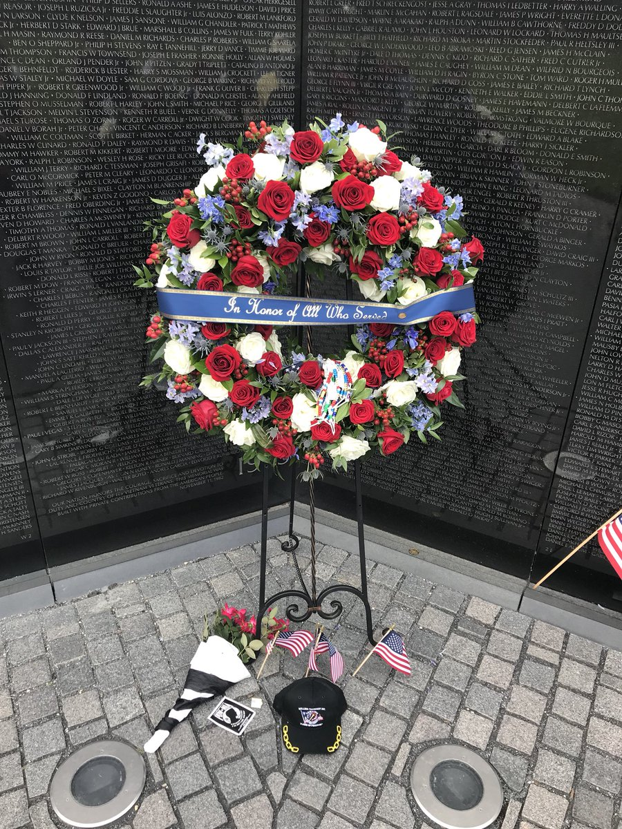 Kevin lewis on twitter cindy mccain helped lay a wreath at the people have since left flowers american flags a paperback book pow hat and homemade signs honoring the military heropicitterglf3dfjmcv izmirmasajfo