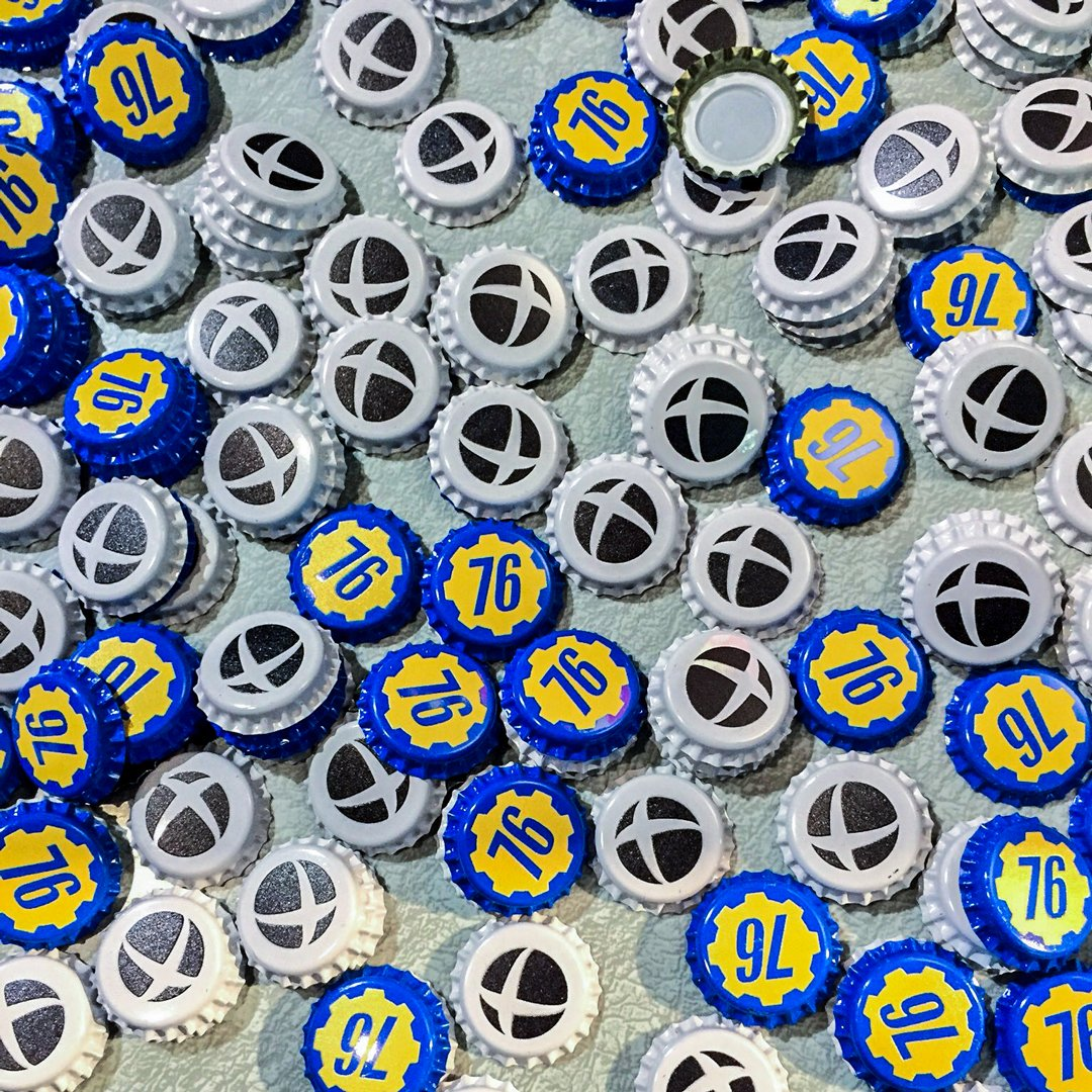 At PAX West this weekend? Drop by the #XboxPAX booth (403) and pick up some #Fallout76 bottle caps!