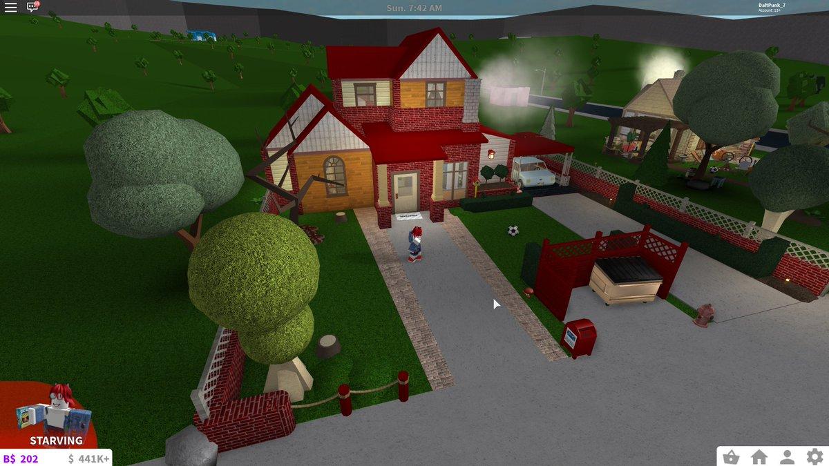 Roblox Bloxburg Tiny Modern House Daftpunk 7 S Bloxburg Builds