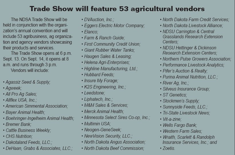 04744390bb65 Visit 53 agricultural vendors at our trade show during our 89th Annual  Convention   Trade Show at the Ramkota in Bismarck.  http   ow.ly 6gnZ30lE3u7 ...