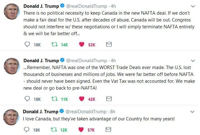 trump twitter trade deal