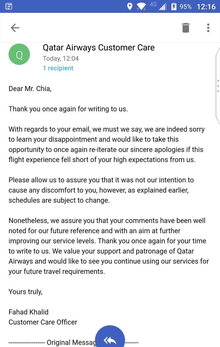 qatar airways email
