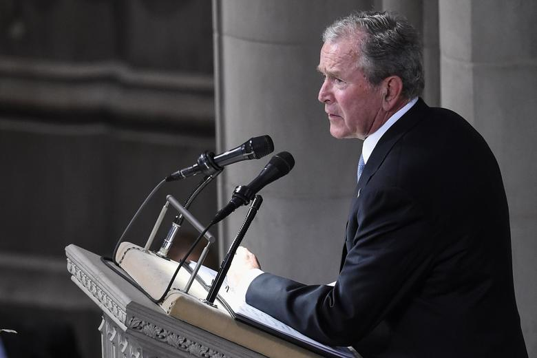 an introduction to the presidental election george w bush and john mccain The presidency of george w bush began at noon est on january 20, 2001, when george w bush was inaugurated as the 43rd president of the united states, and ended on january 20, 2009 bush, a republican.