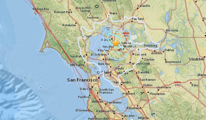San Ramon Earthquake Map.Nbc Bay Area On Twitter Breaking A Preliminary 3 6 Magnitude
