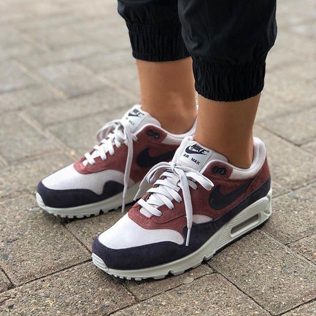 """promo code 75d06 d78e8 Fall 2018 Collection Womens Nike Air Max 90 1 """"Red Sepia Oil Grey"""