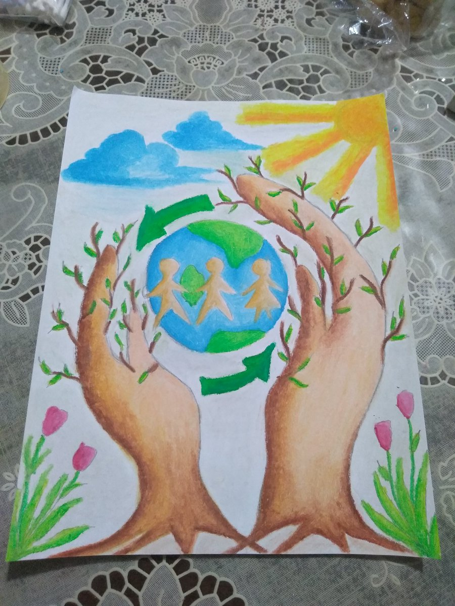 amwriting protecttheearth postermaking ozonelayer maartsy craypas oilpastel drawing motherearth vss365pic twitter com 72lmn5o2ch