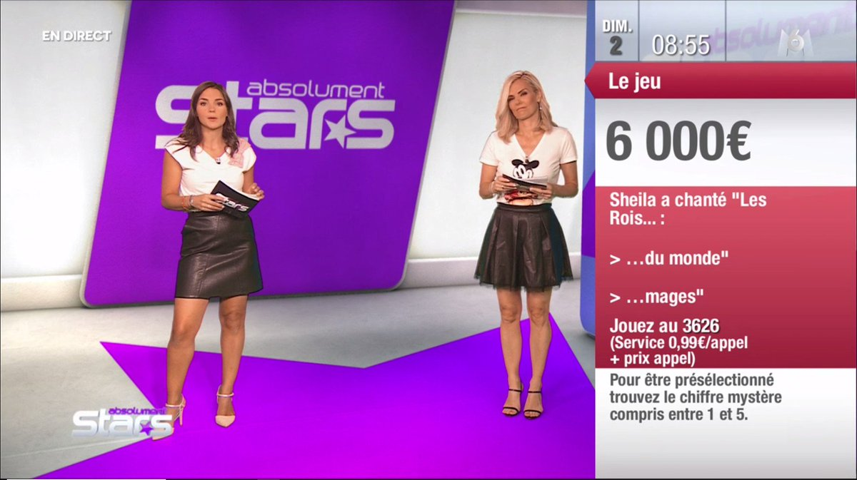 caps 39 anim on twitter claire nevers nancy sinatra pour absolument star ce matin sur m6. Black Bedroom Furniture Sets. Home Design Ideas