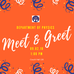 HAPPENING TODAY: Department of Physics Meet & Greet. Come out and meet the Physics faculty and other students in your major. Couch Hall room 130 at 1:00pm #HPU365 #MyMajoratHPU