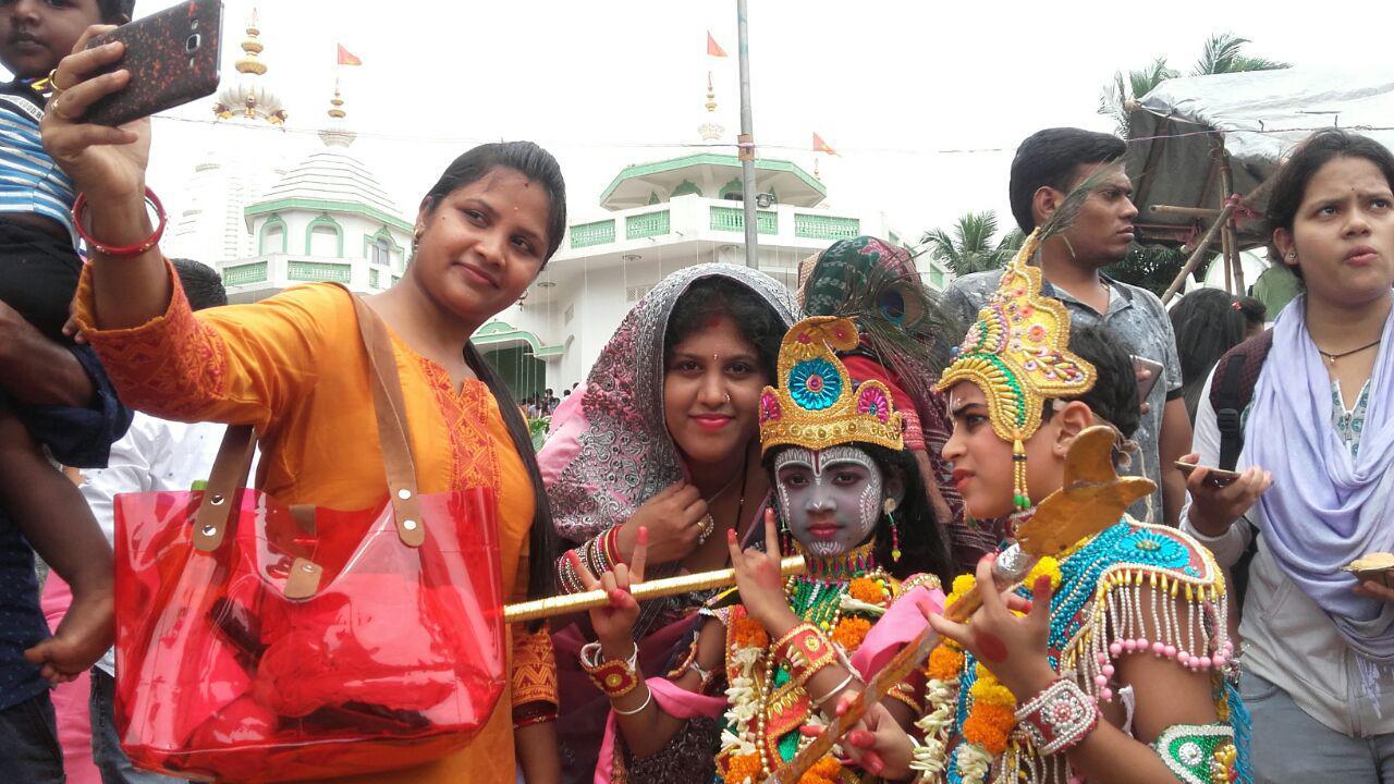 Children dressed as Lord Krishna, 2018