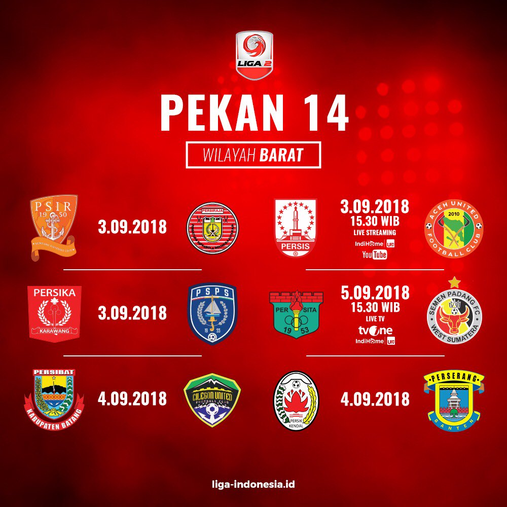 Jadwal Liga 2 pekan ke-14