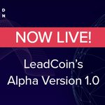 Image for the Tweet beginning: NOW LIVE! The #leadcoinalpha version