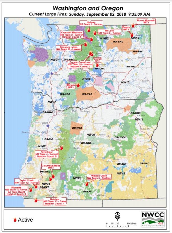 Nwcc On Twitter 9 2 2018 Washington And Oregon Current Large