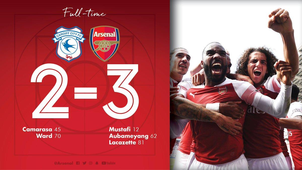 Chấm điểm kết quả Cardiff City 2-3 Arsenal