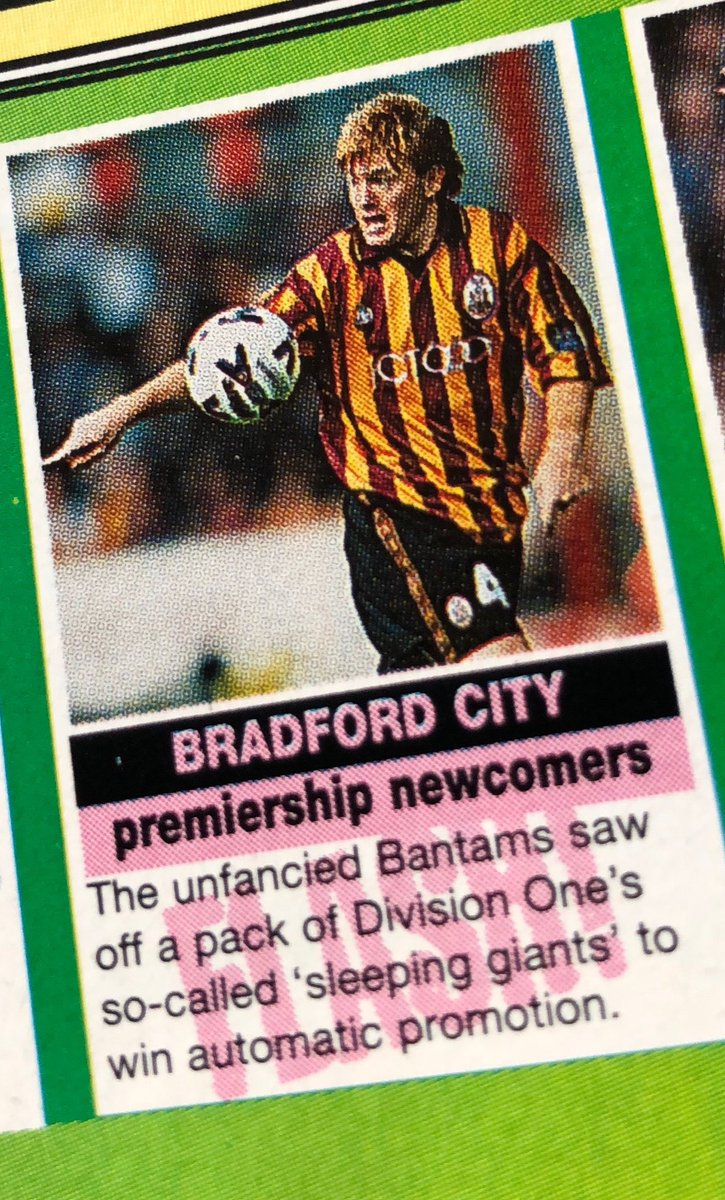 Claret And Banter >> Bantams Banter On Twitter This Week In Matchmagazine 1999