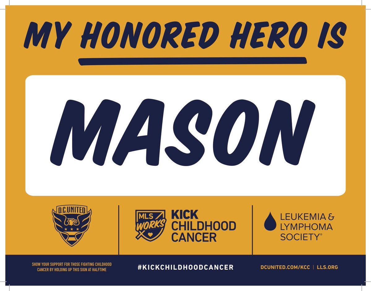 Stay in your seats at the beginning of halftime to show support to those  we've lost and those who have battled childhood cancer.