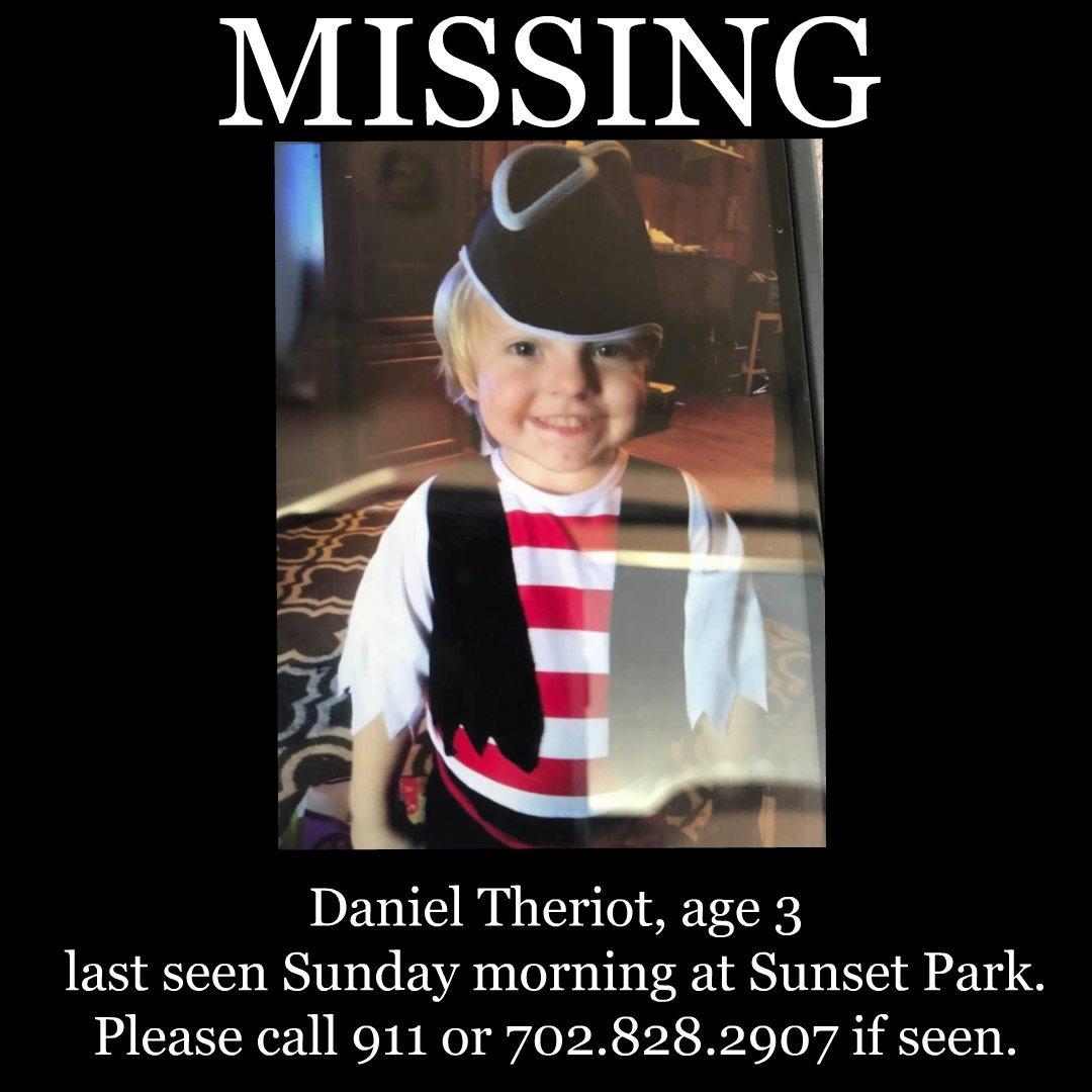 #MISSING 3-year-old Daniel Theriot last seen this morning at Sunset Park. Please retweet.