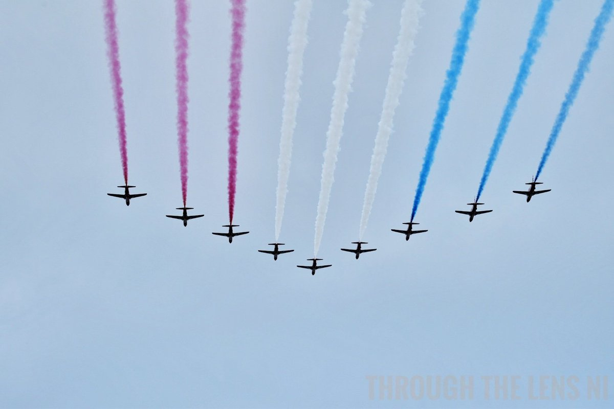 Red arrows at the Portrush Airshow today