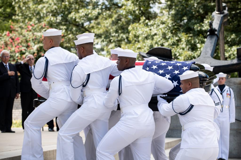 Today Senator John S. McCain III was laid to rest during a private ceremony at the U.S. Naval Academy. Fair winds and following seas Sir, we have the watch.