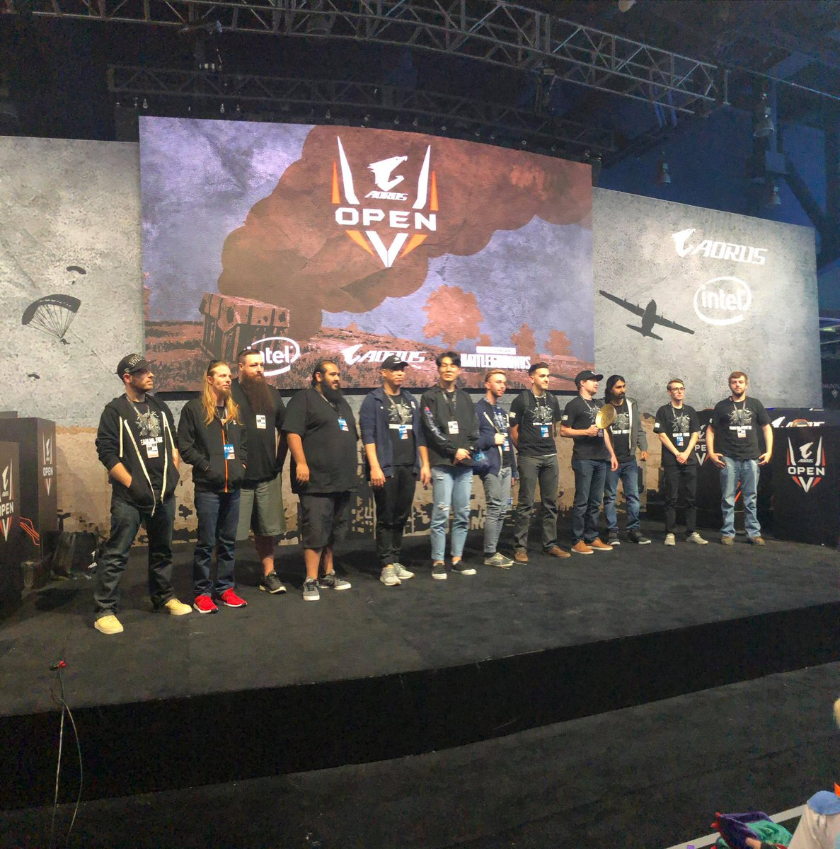Had a great day. Placed 5th but we did take out #1 and dropped them to 2nd in the final round! Made some new friends and possible 2 enemies ;) now onto the parties! #PAX2018 #AORUSOpen #pubg #embracethehavok<br>http://pic.twitter.com/E8GtldGAo3