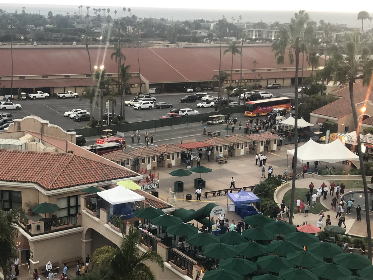 Police respond to a situation at the Del Mar Fairgrounds in Southern
