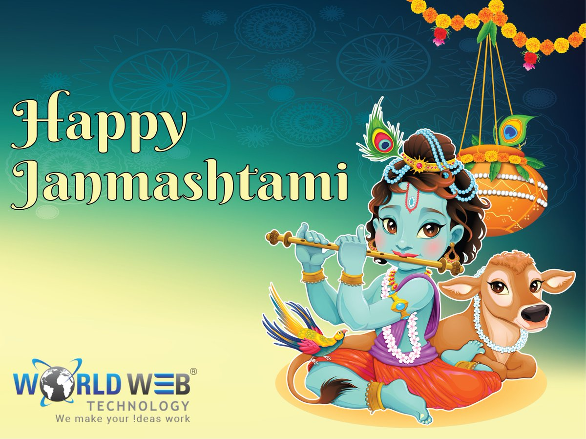 and may every year janmashtami bring lots of happiness to you and your family world web technology family wishes you happy krishna janmashtami