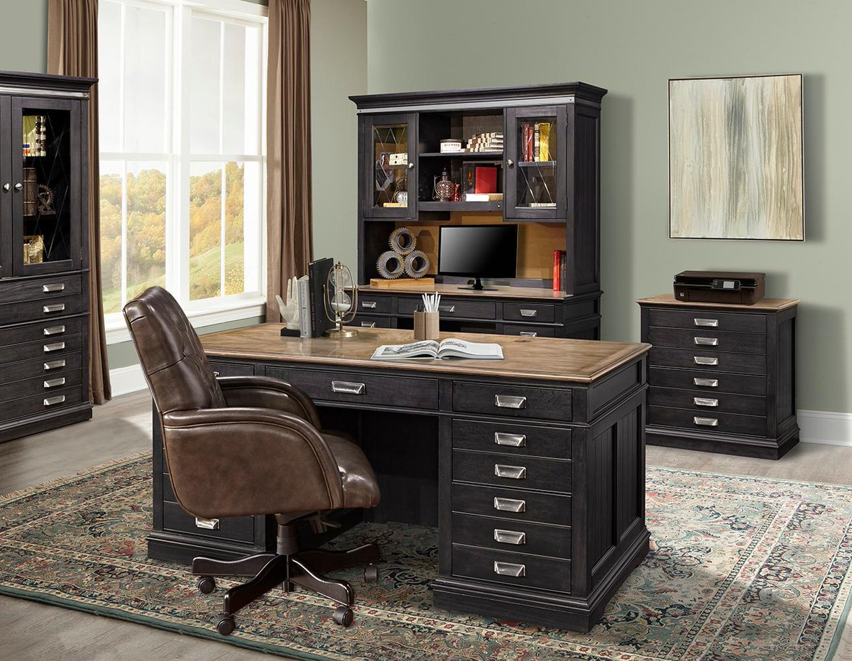 Https Www Rcwilley Furniture Home Office Desks 111222109 Two Tone Urban Executive Desk Lincoln Park View Jsp