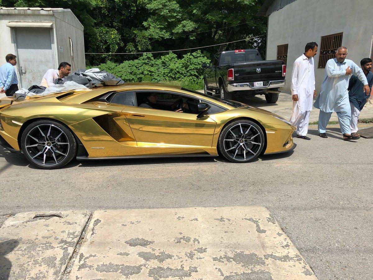 Islamabad On Twitter 18 Karat Gold Foil Lamborghini