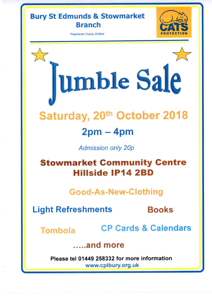 Jumble Sale @ Stowmarket Community Centre