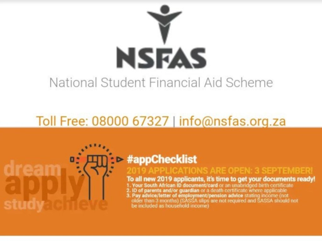 #NSFAS applications for 2019 officially open. Click here for more. https://t.co/h0qeHTsghB #NSFAS2019