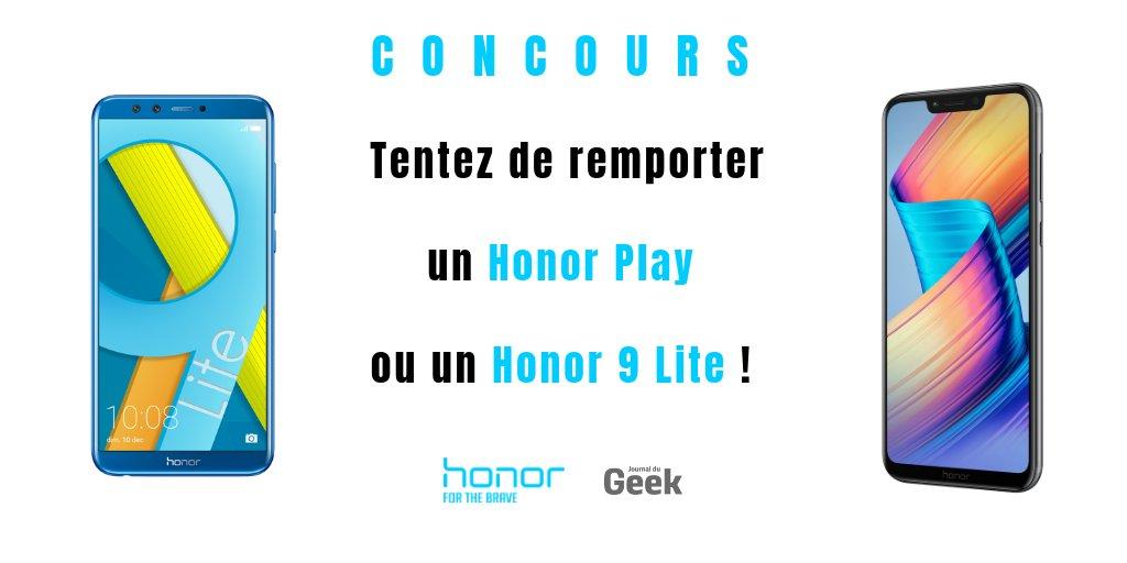 RT + Follow @JournalDuGeek & @Honor_FR pour tenter de remporter un #HonorPlay ou un #Honor9Lite !