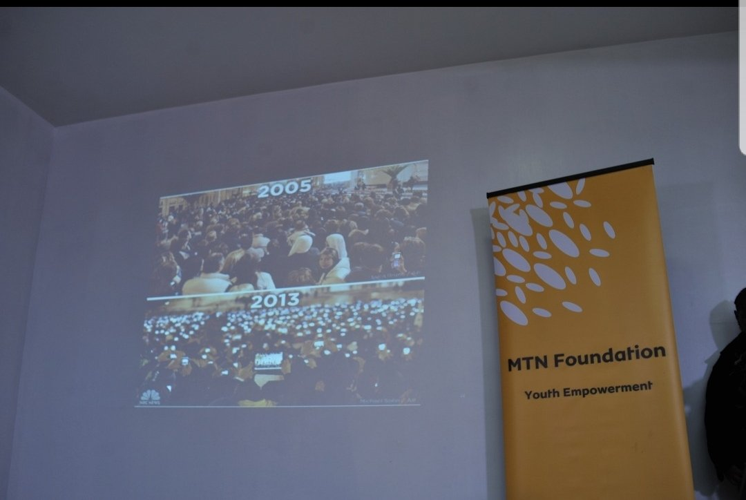 This pictures shows the Papal inauguration of Pope Benedict the XVI in 2005 where a lot of people attended but with little tech coverage fast forward 2013 the same inauguration of  Pope Francis and the attendees had technological gadgets to cover the event. #MTNFscholarships2018 https://t.co/FY9OWbUQ38
