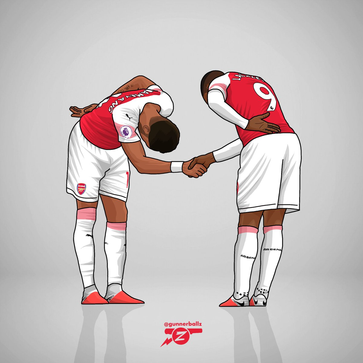 lacazette and aubameyang iphone