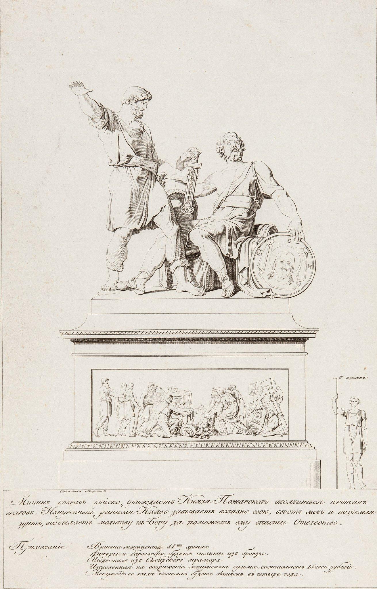 или раскраска памятник минину и пожарскому существенно