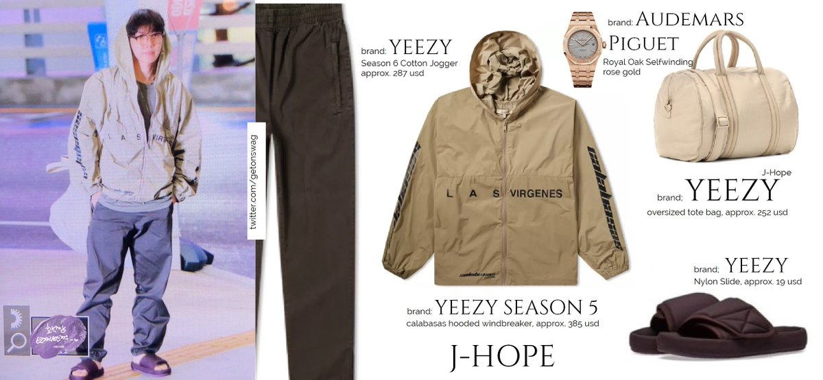 6103b21ca ... YEEZY season 6 Cotton Jogger YEEZY season 5 calabasas windbreaker YEEZY  season 6 nylon slides YEEZY t-shirt Audemars Piguet - Royal Oak Selfwinding  rose ...