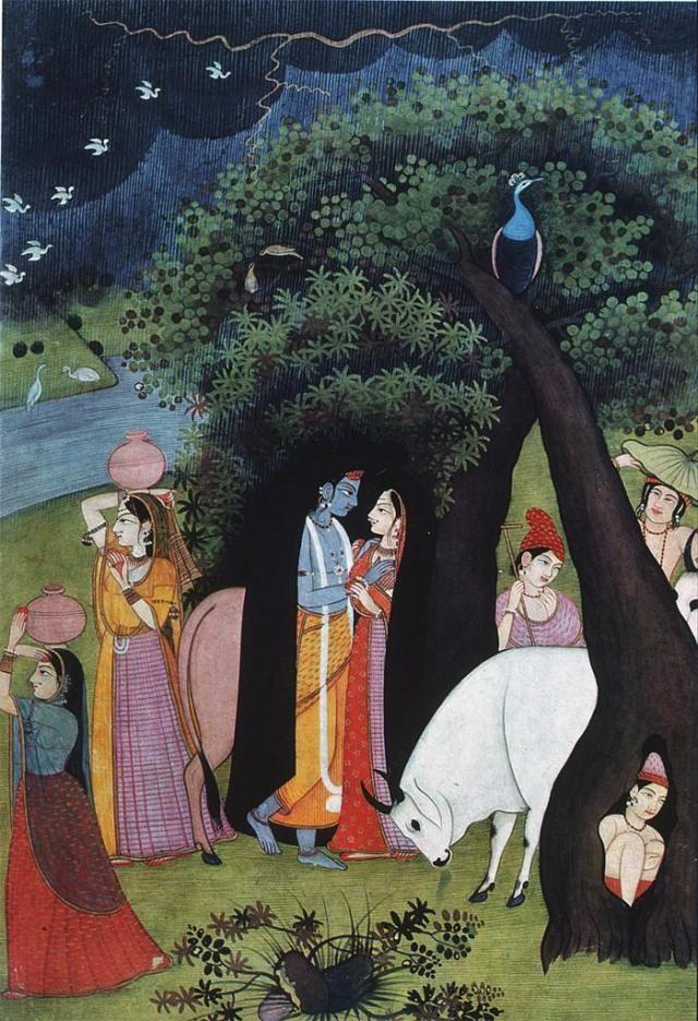 #Krishna is everywhere in #miniature #paintings #Kangra #Pahari #Guler #Basholi whatever you name, but he is the one who transcends all boundaries!! #sects, #Sampradaya #Language #Geologicalboundaries, he is breaker of #boundaries? he diminishes boundaries, i.e. #Ego
