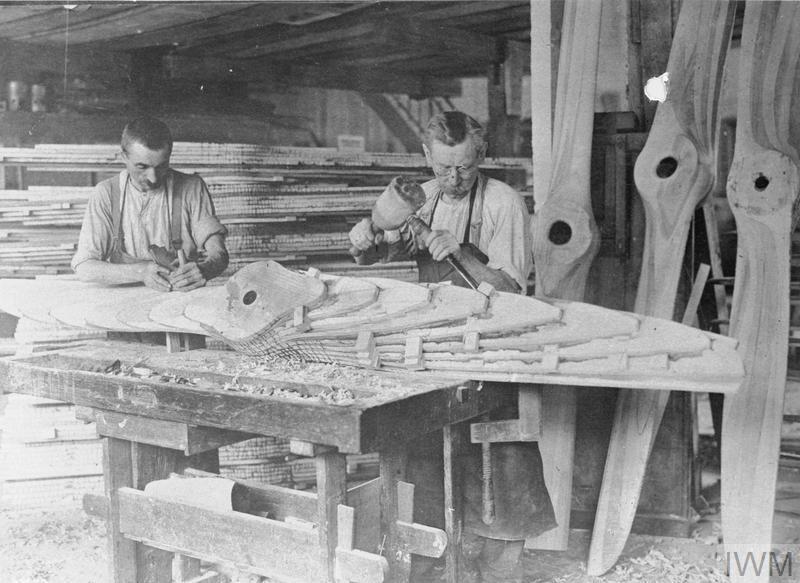 Sep 2, 1918 - Carpenters making propellors in a German airplane factory #100yearsago