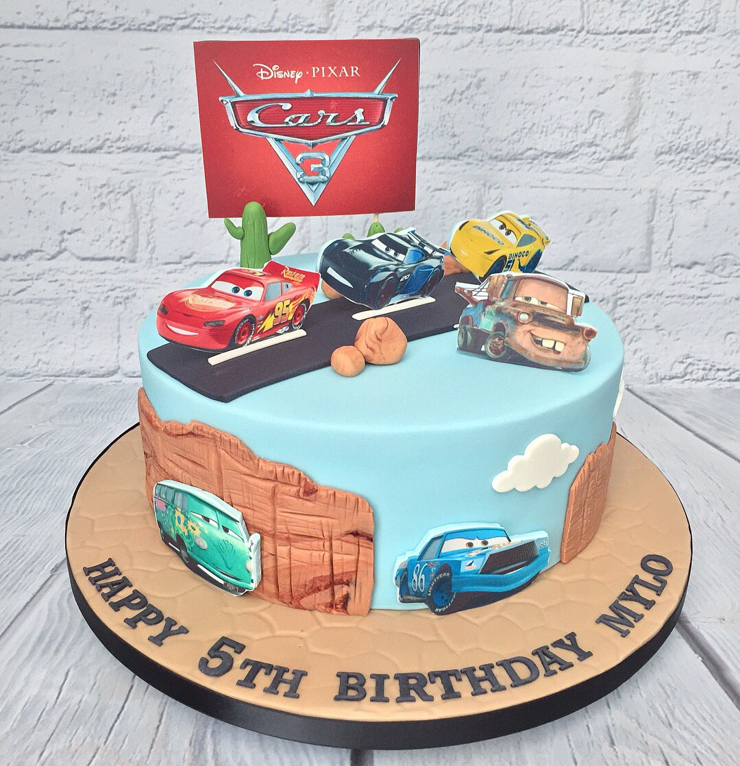 Cool Marias Cake Boutique On Twitter Disney Cars Themed Birthday Personalised Birthday Cards Xaembasilily Jamesorg