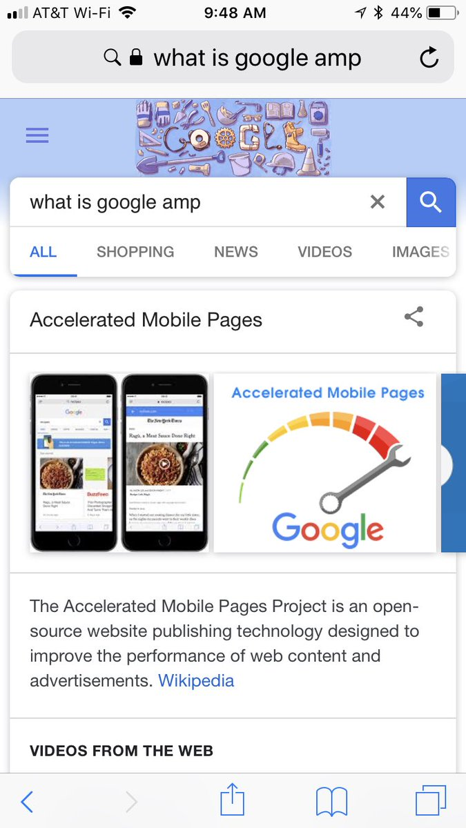 "Ugh. Google AMP is now ""improving the performance of mobile content and advertising"" by jamming ads *into* photos. https://t.co/yiqBAolccr"