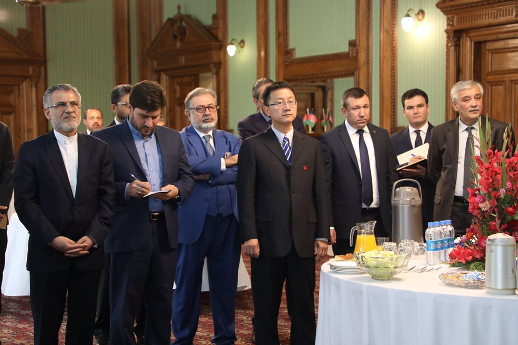 In the attendance were d OIC Special Representative, Ambassadors of Kazakhstan, Turkmenistan, China, Turkey, Russia, Iran, Egypt, Uzbekistan, and Kazakhstan, India, UAE.