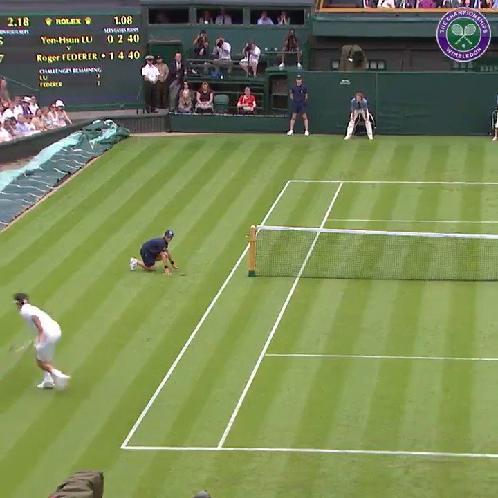 *That* @rogerfederer shot got us feeling all nostalgic... #Wimbledon