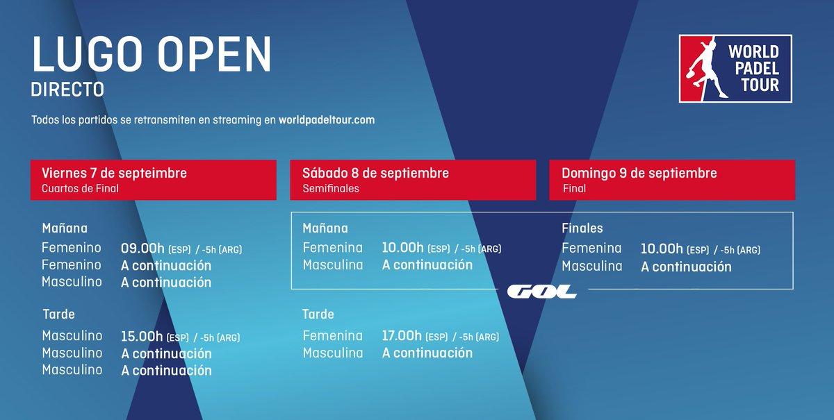 Horarios del streaming del Lugo Open